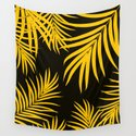 Palm Leaves Pattern Yellow Vibes #1 #tropical #decor #art #society6 by anitabellajantz