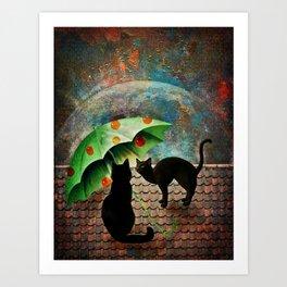 Midnight love2 Art Print