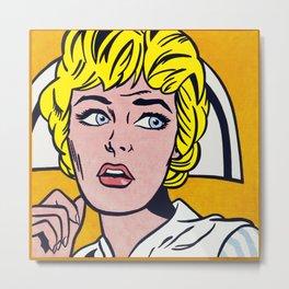 Lichtenstein - Nurse Metal Print