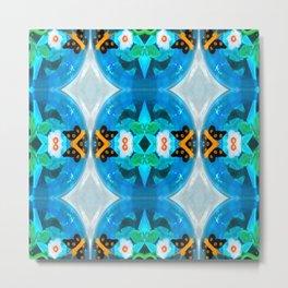 Little Blue Kiddie Pool Metal Print