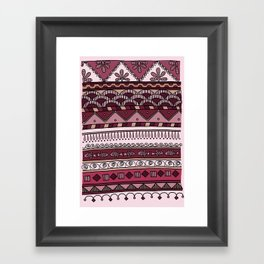 Yzor pattern 004 lilac Framed Art Print