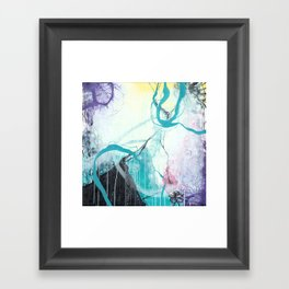 Ice Wind - Square Abstract Expressionism Framed Art Print