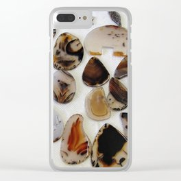 Montana Agate shapes Clear iPhone Case