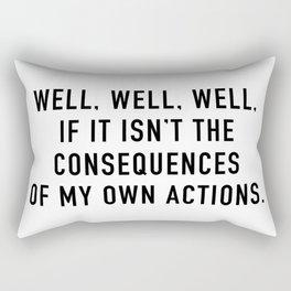 Consequences Rectangular Pillow