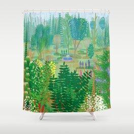 Xochimilco Shower Curtain