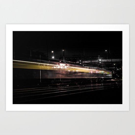Night Train Art Print