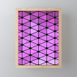 Purple Geometric Design Framed Mini Art Print