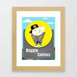 Biggie Smiles Framed Art Print