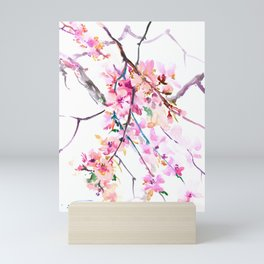 Cherry Blossom pink floral spring design cherry blossom decor Mini Art Print