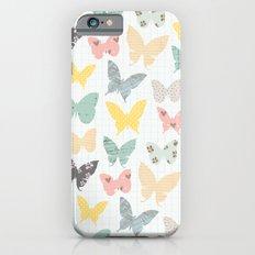 butterflies pattern iPhone 6s Slim Case