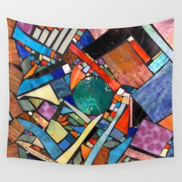 Stained glass montage Wall Tapestry