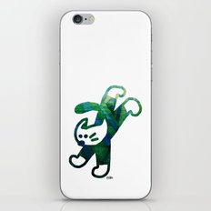 A Green Cat With White Socks iPhone & iPod Skin