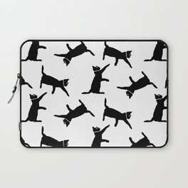 Cats on White Laptop Sleeve