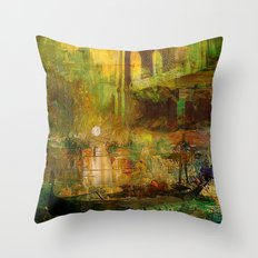 The gondolier of Brooklyn Throw Pillow