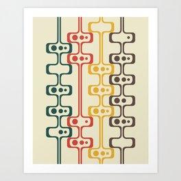 Mid Century Modern Daddy-O (gold) Art Print