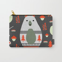 Christmas bears and birds Carry-All Pouch