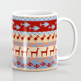 Inca Animals Fish and Birds Pattern Coffee Mug