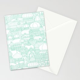 Delightful Domes - Mint Stationery Cards