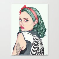 girl Canvas Prints featuring GIRL by Laura O'Connor