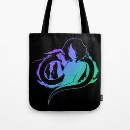 girl with dragon Tote Bag