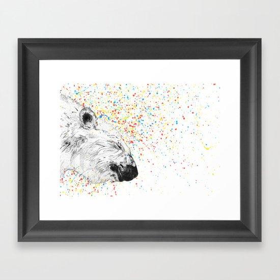 Polar Bear // Endangered Animals Framed Art Print