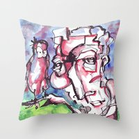 birdman Throw Pillows featuring Birdman by 5wingerone