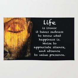 Life Is Ironic Rug