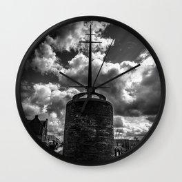 Station Square,Portrush,Ireland,Northern Ireland,B&W Wall Clock