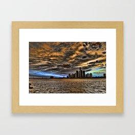 Sunset over Detroit#2 Framed Art Print