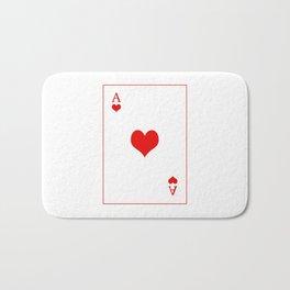 Ace of hearts Bath Mat