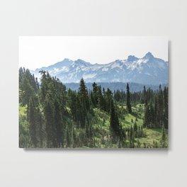 Mount Rainier Adventure - Pacific Northwest Mountain Forest Wanderlust Metal Print