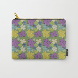Green Bright Blooms Carry-All Pouch