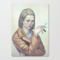 tenenbaum Canvas Prints featuring Margot Tenenbaum by Lek Chan