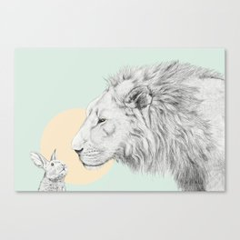 Lion and Bunny Canvas Print