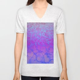 Purp Pink Blue Glimmering Waters Unisex V-Neck