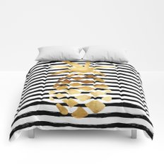 Pineapple & Stripes Comforters