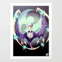 Caller of the moon Art Print