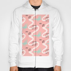 rectangles vs coral lines Hoody