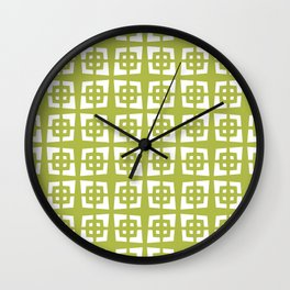 Mid Century Modern Pattern 271 Chartreuse Wall Clock