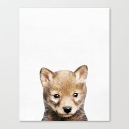 Wolf, Baby, Animal, ZOO, Nursery, Minimal, Modern, Wall art Art Print Canvas Print