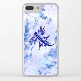 Blue Dragon Sea Slug Clear iPhone Case