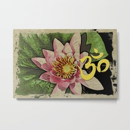 Water Lily Gold Ohm Metal Print