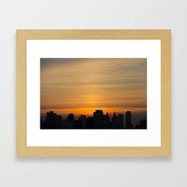 skyline brushstrokes Framed Art Print