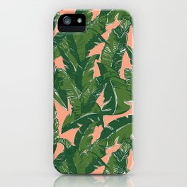 Leaves Bananique in Fresh Salmon iPhone Case