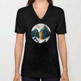 Golden Waterfall Unisex V-Neck