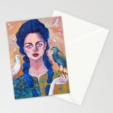 Libra, acrylic artwork Stationery Cards