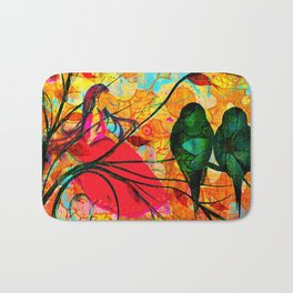""""""" O free birds, proud, charming, pure, without troubles."""" Bath Mat"""