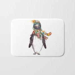 Penguin in a scarf (male) Bath Mat