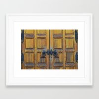 doors Framed Art Prints featuring Doors by Defiant Hawk Photography
