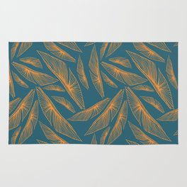 Feathered Leaf Pattern Rug